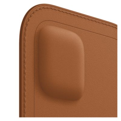 Apple Leather Sleeve with MagSafe for Apple iPhone 12 mini - Saddle Brown