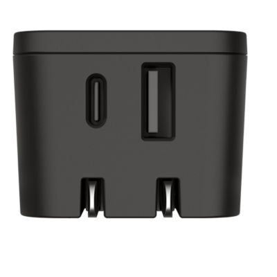 GoTo™ Dual USB A and USB C Wall Charger - Black R2