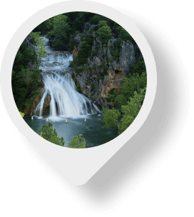 Arbuckle Mountains/Turner Falls map pin