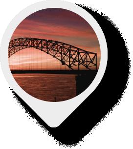 Hernando de Soto Bridge map pin