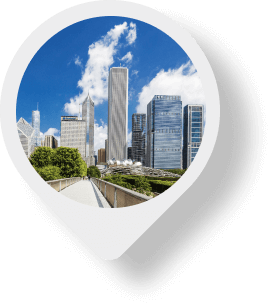 Chicago map pin