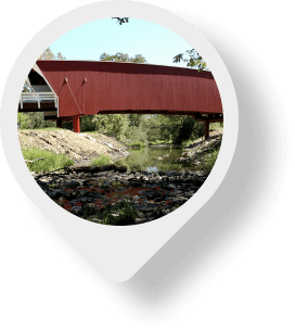 Madison County Covered Bridges map pin