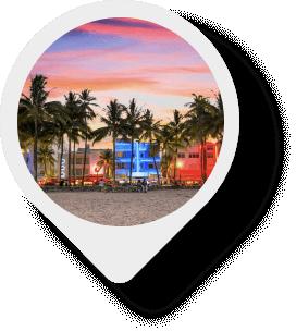 Miami Beach map pin