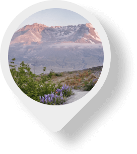 Mount St. Helens map pin